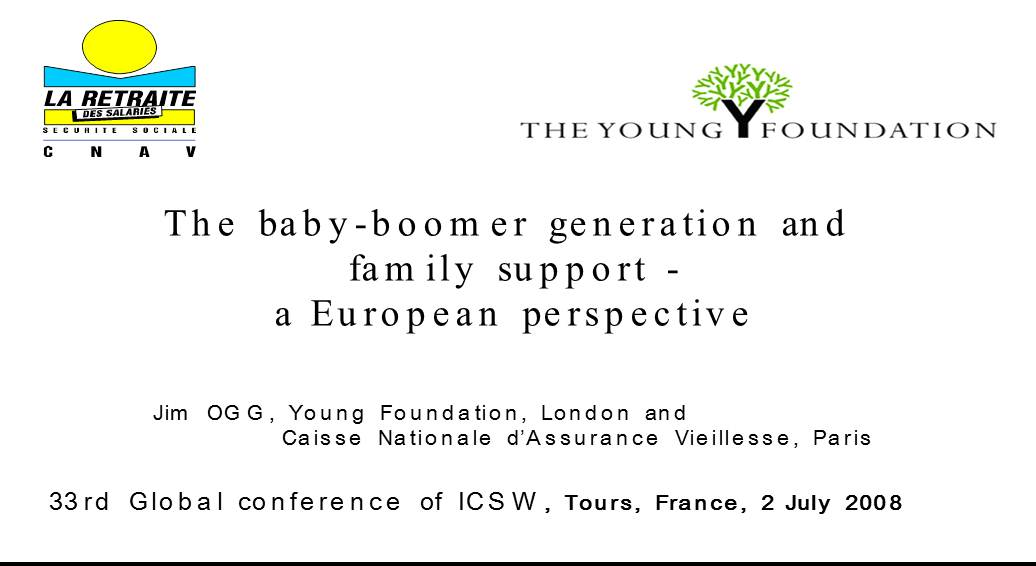 The baby-boomer generation and family support - a European