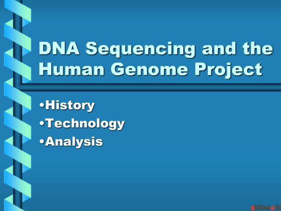 DNA Sequencing and the Human Genome Project