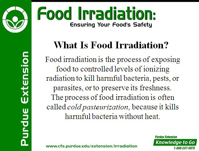 Food Irradiation Insuring Your Food