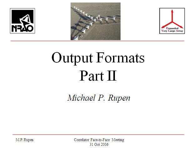 Output Formats Part II