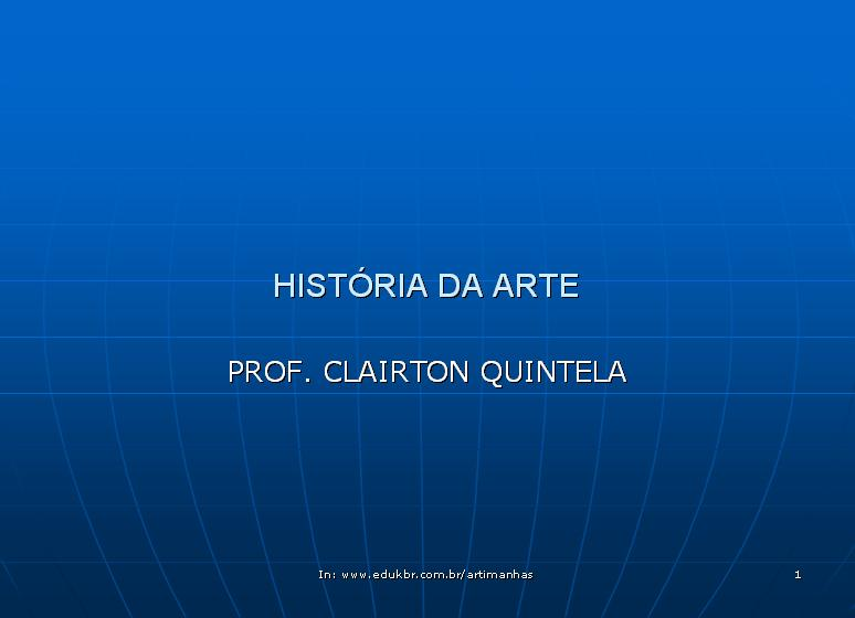 HISTRIA DA ARTE