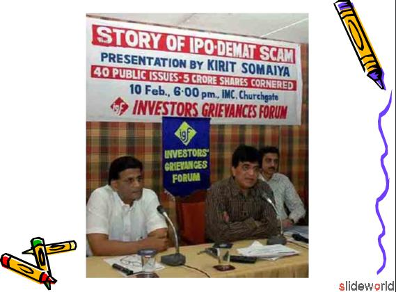 Story of Demat Scam 1,00000 Bogus Demat A c, Ban 