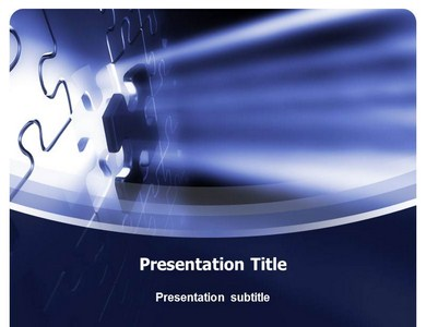 Puzzle Piece Design Powerpoint Templates