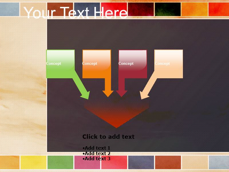 Adding color design template Powerpoint Templates