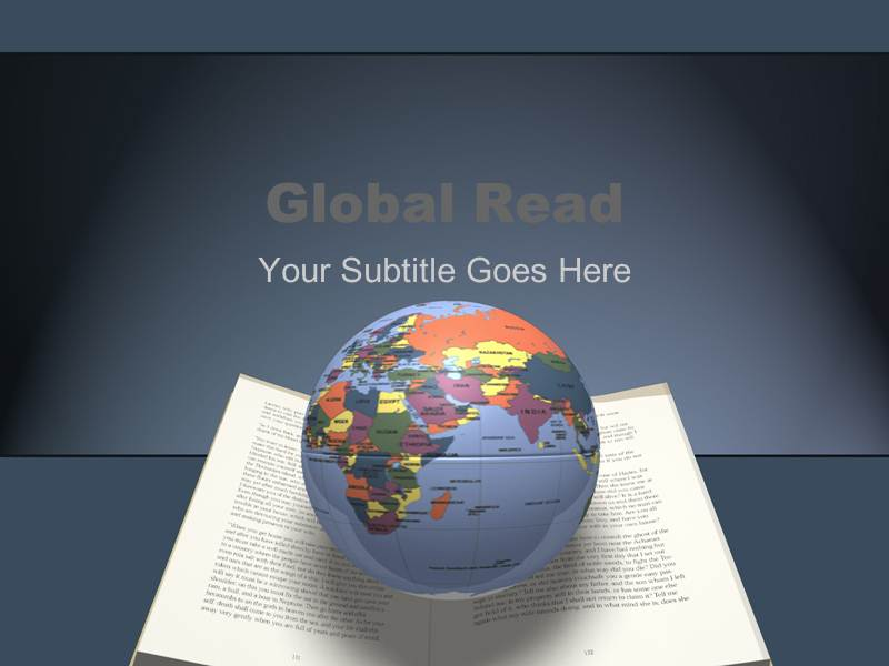 Global read design template Powerpoint Templates