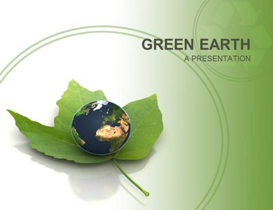 Green Earth  Powerpoint Templates
