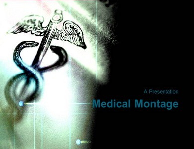Medical montage design template Powerpoint Templates