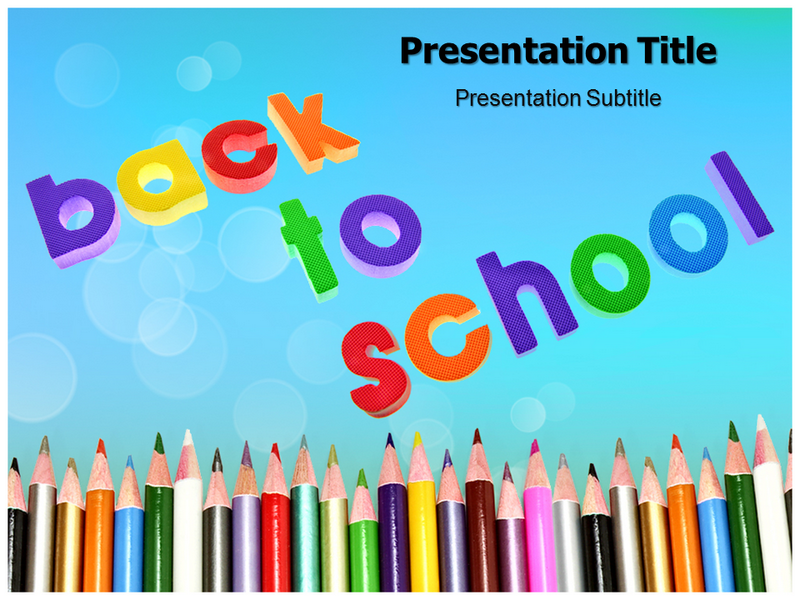 Back To School Powerpoint Ppt Templates Ppt Template For Back To