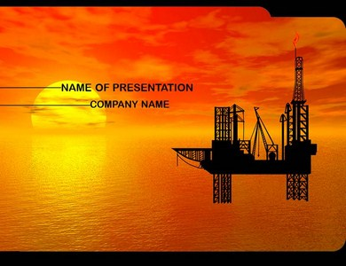 Oil Mining  Powerpoint Templates
