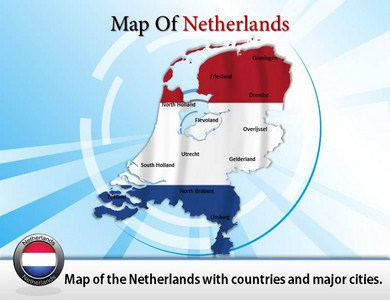 Map of Netherlands Antilles  PowerPoint Templates