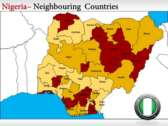 Map of Nigeria Tribes  power Point templates
