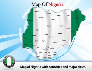 Map of Nigeria Tribes  PowerPoint Templates