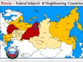 Map of Russia  powerPoint backgrounds