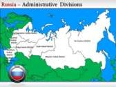 Map of Russia  background PowerPoint Templates