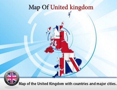 United Kingdom Nation Map  PowerPoint Templates