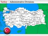 Turkey Border Map  themes for power point