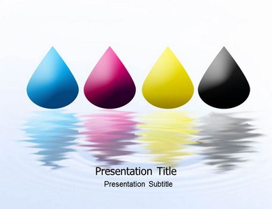 Drops Of Water Powerpoint Templates