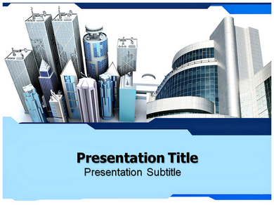 Office buildings Powerpoint Templates