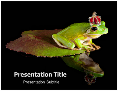 Tropical Green Frog Powerpoint Templates