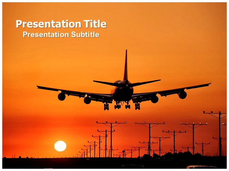 airport (ppt)powerpoint template | powerpoint template on airport, Modern powerpoint