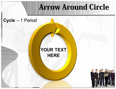 Arrow Around Black Powerpoint Templates