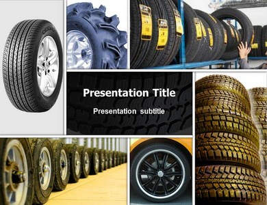 Tire Collage Powerpoint Templates