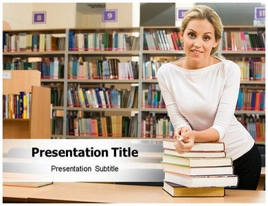 Library 1 Powerpoint Templates