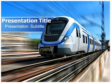 train track powerpoint templates powerpoint presentation on train