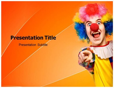 Clown 1 Powerpoint Templates