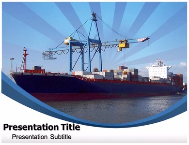 Container Ship Powerpoint Templates