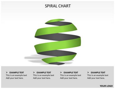 Spiral Charts Powerpoint Templates