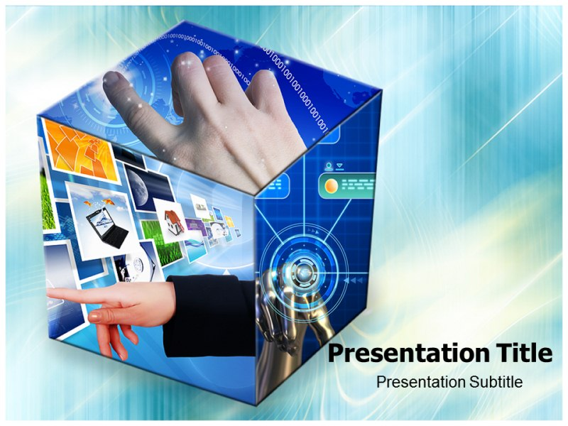 Touch Screen Pictures Powerpoint Templates