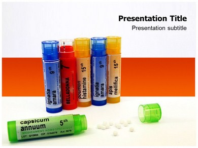 Homeopathic Pills Powerpoint Templates
