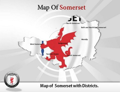 Somerset Maps  PowerPoint Templates
