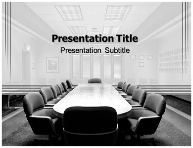 Discussion Room Powerpoint Templates