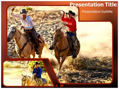 Cowboy Costumes Powerpoint Templates