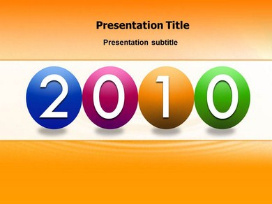 2010 Year Powerpoint Templates