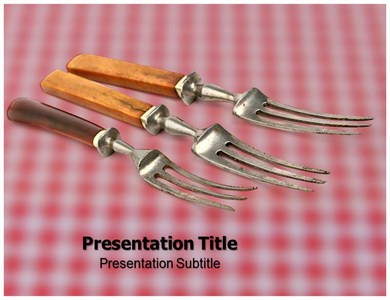 History Fork Powerpoint Templates