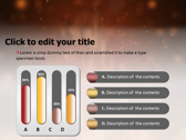 Fire Animated powerpoint theme professional