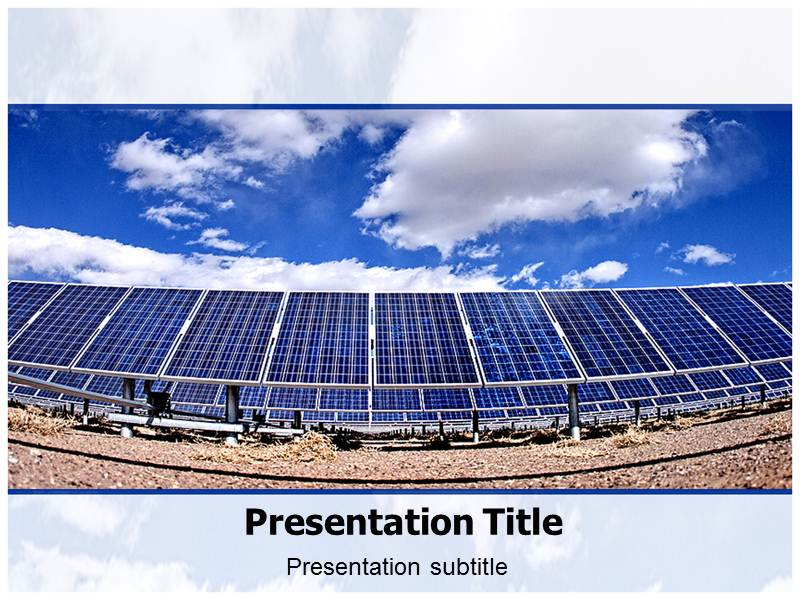 solar energy ppt powerpoint template solar energy template