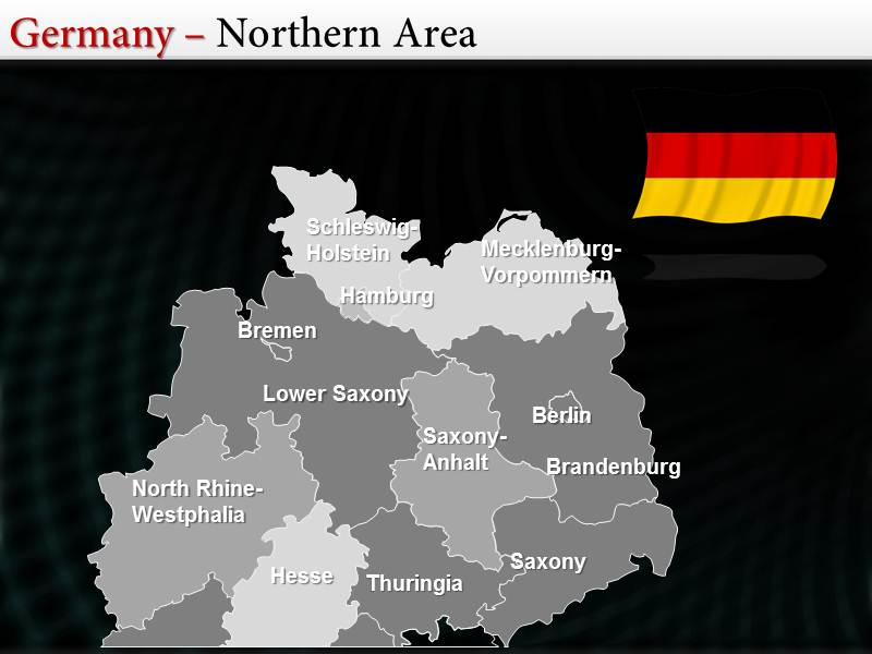 Germany map powerpointppttemplates interactive germany maps for download toneelgroepblik Images