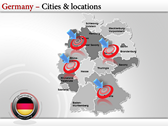 Germany Map  powerpoint template download