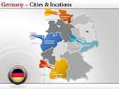 Germany Map  ppt templates