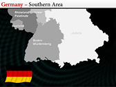 Germany Map  slides for powerpoint