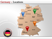 Germany Map  power Point Backgrounds