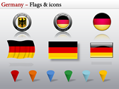 Germany Map  themes for power point