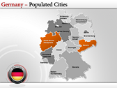 Germany Map  design for power point