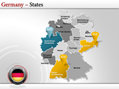 Germany Map  power point download