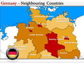 Germany Map  power point background graphics