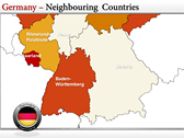 Germany Map  powerPoint themes
